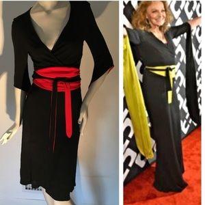 Diane von furstenburg geisha wrap vintage dress